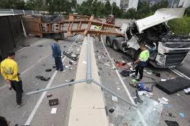 100 Fatal Truck Accidents Two Truck Accidents On Hong Kongs Tuen Mun Motorways Less Than 24