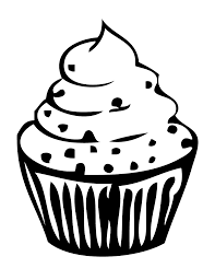 Cupcake clipart outline 2