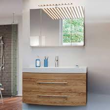 100 cm breiter spiegelschrank waschtisch bunai 2 teilig