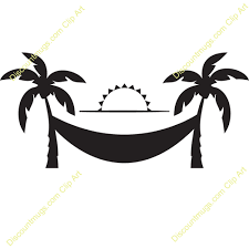 Palm Tree Hammock Clipart
