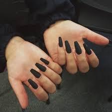 Nail Polish Black Matte Dark