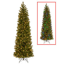 Pre Lit Pencil Christmas Trees by Home Accents Holiday 7 5 Ft Blue Spruce Elegant Twinkle Quick Set