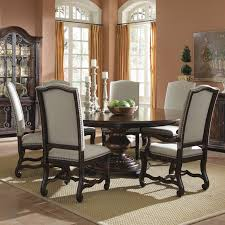 Black Kitchen Table Decorating Ideas by Fine Decoration Round Wood Dining Table Set Marvelous Round Wood