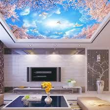 guangzhou ihouse schönheit landschaft blauer himmel weiße taube kirschblüte zweig decke tapete wandbilder
