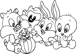 Bugs Bunny And Lola Bunny Coloring Pages Printable Coloring Page