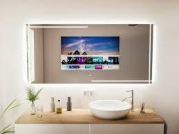 tv spiegel spiegel mit fernseher tv kaufen badspiegel de