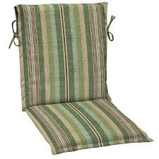 Patio Furniture Slings Fabric by Shop Allen Roth Stripe Green Stripe Standard Patio Chair Cushion