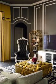Hollywood Regency Modern Glamour Meets Alice In Wonderland Family Room