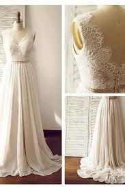 V Neck Sleeveless Open Back Wedding Dress With Lace Sash PG 200