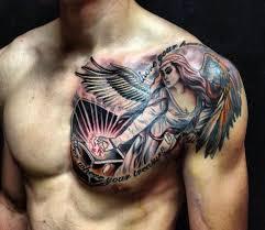 Angel Chest Tattoos For Men