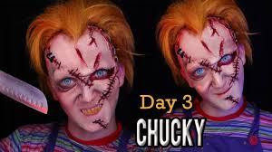 Chucky Halloween Mask by Chucky Halloween Makeup Tutorial Danielzrotfl Youtube