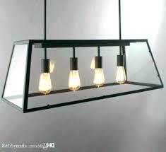 Large Rectangular Dining Room Light Fixtures Pendant Fixture Industrial Chandelier 3 Polished Nickel Lighting Recta