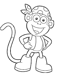 Dora Printable Coloring Pages Boots Character