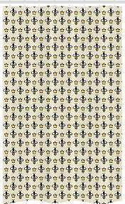 abakuhaus duschvorhang badezimmer deko set aus stoff mit haken breite 120 cm höhe 180 cm bienenkönigin stil bees kronen kaufen