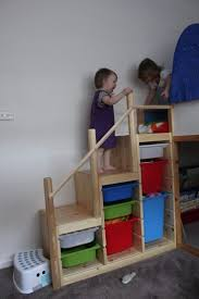 Loft Bed With Slide Ikea by Trofast As Bunk Bed Steps Don U0027t Know Why It Hasn U0027t Fully
