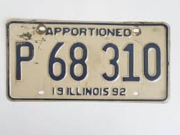 Illinois+Apportioned+Truck+License+Plate+Trucker+Tag $7.99 | Other ...