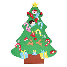 DIY Felt Christmas Tree Kids Artificial Ornaments Stand Decorations Gifts New Year Xmas