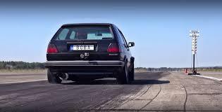 1 233 HP Volkswagen Golf Mk2 Pulls Amazing 8s Quarter Mile