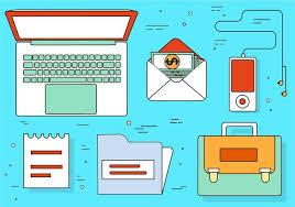 icones bureau gratuits éléments et icônes de bureau gratuits de design plat téléchargez