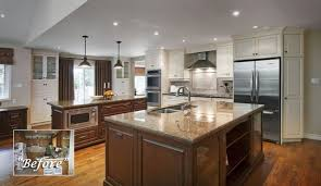 Kitchen RemodelLighting Flooring Open Concept Ideas Quartz Countertops Before And After Remodel