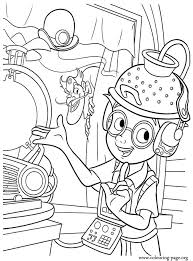 Lewis And Bowler Hat Guy In The Science Fair Coloring Page