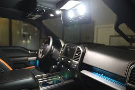 2015 - 2018 F-150 Front Interior Vanity Mirror LED Lights - F150LEDs.com