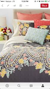 Coral Colored Bedding by Home Accessory Coral Blue Pillow Yellow Orange Apartment
