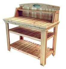 suncast pt4500 cedar potting bench garden outdoor