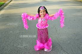 Chasing Fireflies Halloween Catalog by Casa Moncada Pink Fairytale Mermaid Girls Costume From Chasing