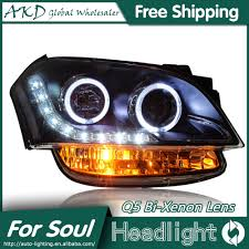 akd car styling for kia soul headlights 2010 2013 soul led