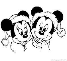Disney Christmas Coloring Pages Mickey Minnie Mouse