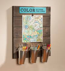 Wood Board Adult Coloring Organization Station Color Outside The Lines Instructions To Make