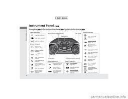 Malfunction Indicator Lamp Honda Fit by Honda Fit 2014 3 G Owners Manual