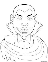 Coloriage Vampire Dracula Halloween JeColoriecom