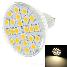 gu5 3 mr16 3w 260lm 3500k 24 led warm white light bulb silver