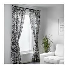 details zu 2x ikea kungslilja gardinen gardine grau weiss je 3m x1 45m 603 129 04 neu