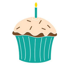 Free Birthday Clip Art Image Birthday Cupcake with Candle