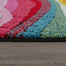 kurzflor teppich bunt weich wohnzimmer 3 d design mosaik