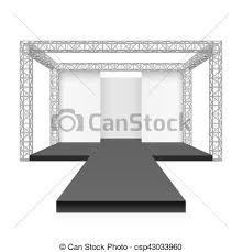 Fashion Runway Podium Stage Vector