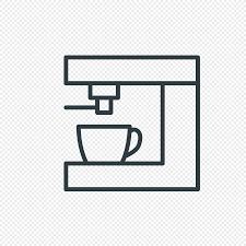 Line Drawing Coffee Machine