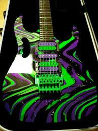 Custom Painting Guitars Awesome Ibanez Jem And A Nice Swirl Paint Job Too