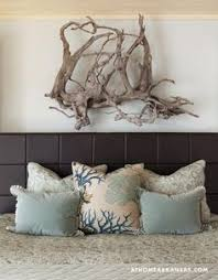 Driftwood Used As Natural Art Above Headboard Browse Decor At Completely Coastal