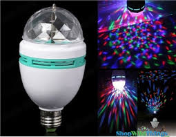 led color rotating light bulb disco event lighting