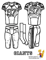 Print Out These Pro NFC Football Uniform Coloring Pages They Are Simple And Easy To Color Free NFL For Falcons Panthers Saints
