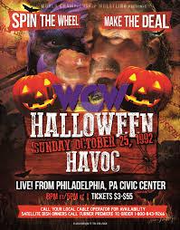 Wcw Halloween Havoc by Halloween Havoc 1992 Custom Poster By Smeltzerdeltzer On Deviantart