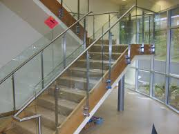 Stainless Steel Staircase Handrail Design In Kerala | Best ... Stairs Amusing Stair Banisters Baniersglsstaircase Create Unique Metal Handrailings With Pinnacle Staircase And Hall Contemporary Artwork Glass Banister In Best 25 Glass Balustrade Ideas On Pinterest Handrail Wwwstockwellltdcouk American White Oak 3 Part Dogleg Flight Frameless Stair Railing Elegant Safety Architecture Inspiring Handrails For Beautiful Amusing Stright Banister With Base Frames As Decor Tips Cool Banisters Ideas And Newel Detail In Brown