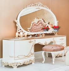casa padrino luxury baroque bedroom set pink white copper 1 dressing table 1 mirror 1 stool magnificent bedroom furniture in