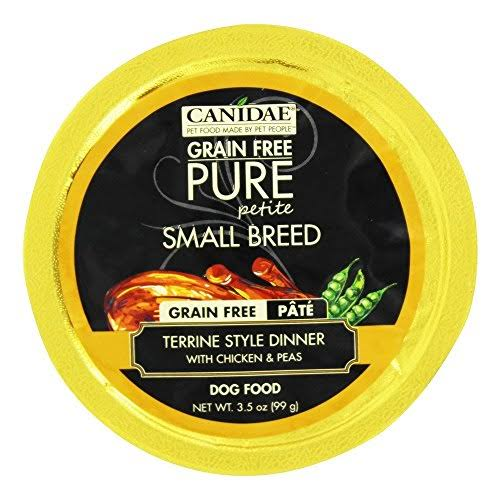 Canidae Grain Free Pure Petite Small Breed Pate Terrine Style Dinner with Chicken & Peas Dog Food - 3.5 oz