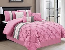 7 Piece Liv Pinch Pleat Pink forter Set