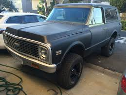 100 Blazer Truck 1972 CST CA Desert Matching 350 Med Olive Black Top